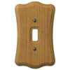 Austin Medium Oak Finish - 1 Toggle Wallplate - Wallplate Warehouse