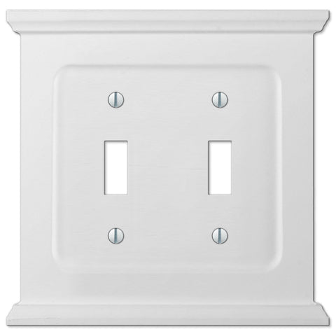 Mantel White Wood - 2 Toggle Wallplate - Wallplate Warehouse