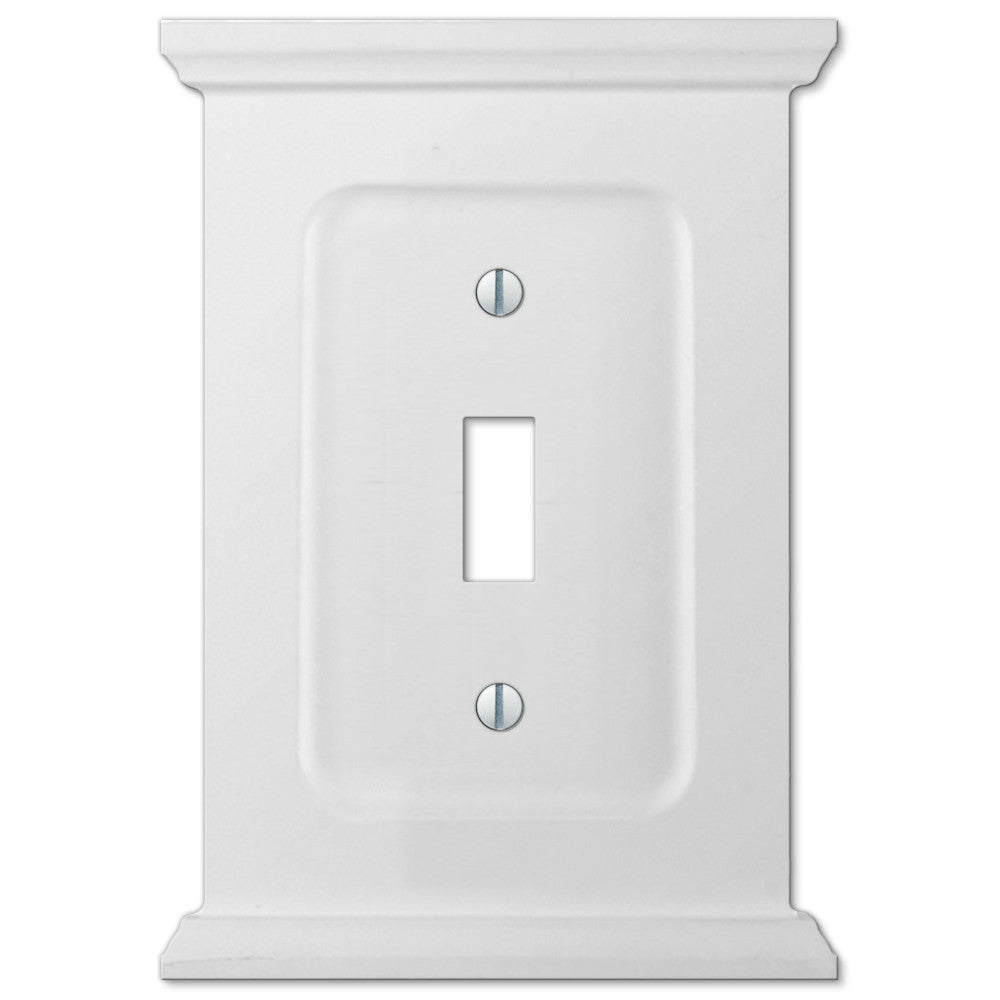 Mantel White Wood - 1 Toggle Wallplate - Wallplate Warehouse