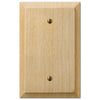 Baker Unfinished Alder Wood - 1 Blank Wallplate - Wallplate Warehouse