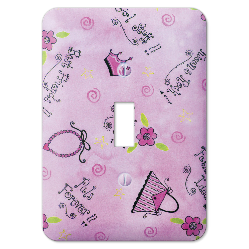 Sassy Girl Steel - 1 Toggle Wallplate - Wallplate Warehouse