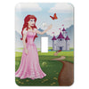 Princess Julia Steel - 1 Toggle Wallplate - Wallplate Warehouse