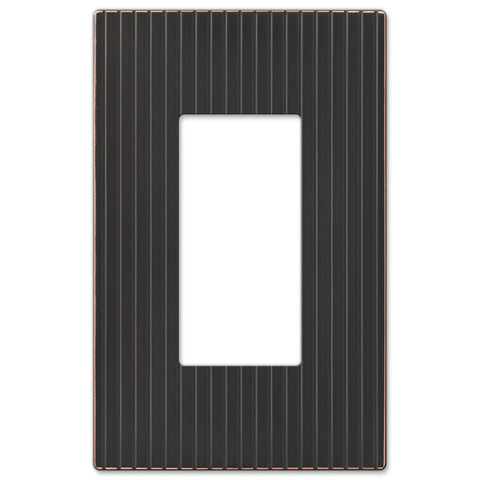 Mies Screwless Aged Bronze Cast - 1 Rocker Wallplate - Wallplate Warehouse