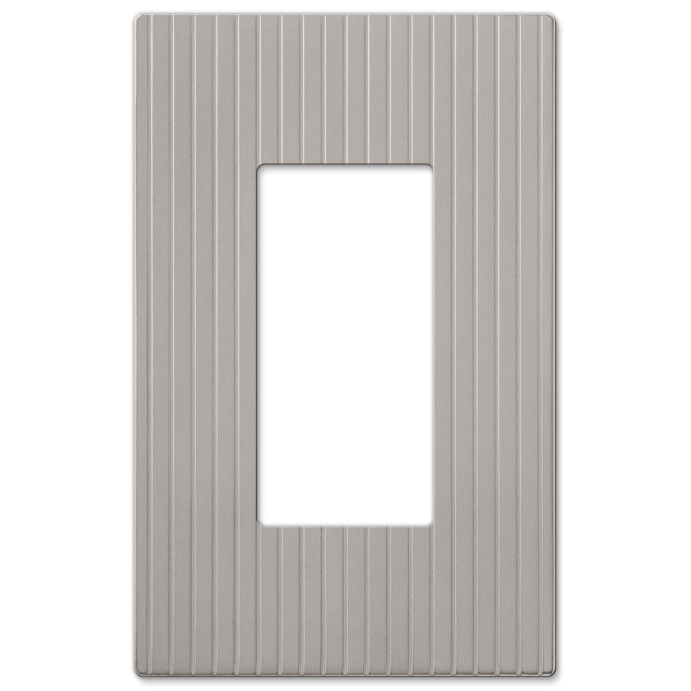 Mies Screwless Satin Nickel Cast - 1 Rocker Wallplate - Wallplate Warehouse