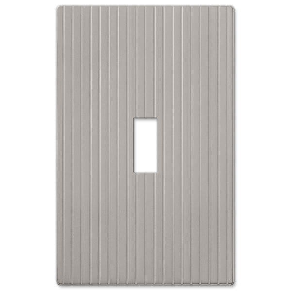 Mies Screwless Satin Nickel Cast - 1 Toggle Wallplate - Wallplate Warehouse