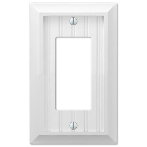 Cottage White Wood - 1 Rocker Wallplate - Wallplate Warehouse