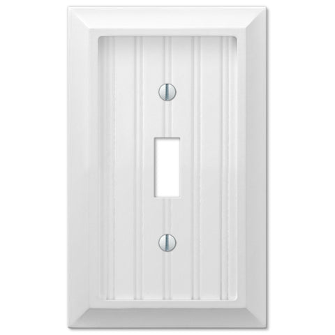 Cottage White Wood - 1 Toggle Wallplate - Wallplate Warehouse
