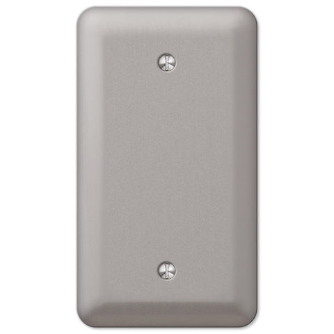 Devon Brushed Nickel Steel - 1 Blank Wallplate - Wallplate Warehouse