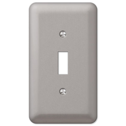 Devon Brushed Nickel Steel - 1 Toggle Wallplate - Wallplate Warehouse