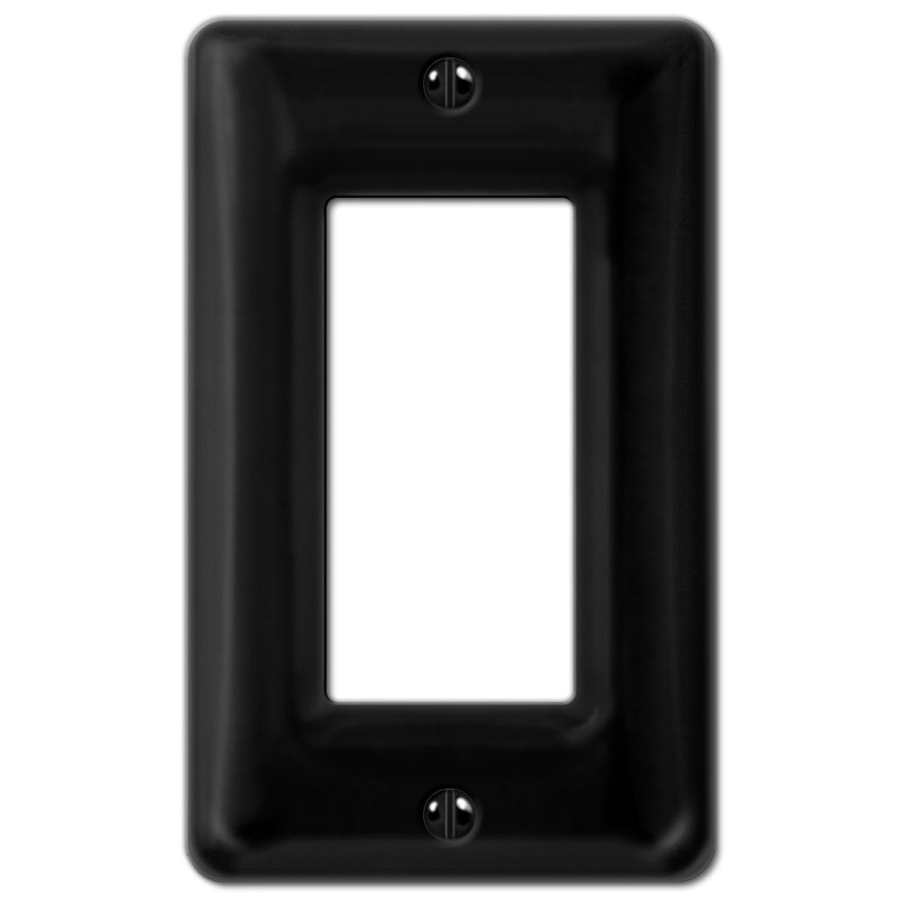 Allena Black Ceramic - 1 Rocker Wallplate - Wallplate Warehouse