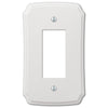 Classic White Plastic - 1 Rocker Wallplate - Wallplate Warehouse