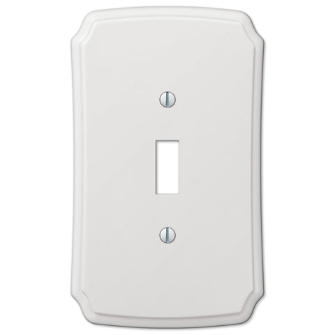 Classic White Plastic - 1 Toggle Wallplate - Wallplate Warehouse