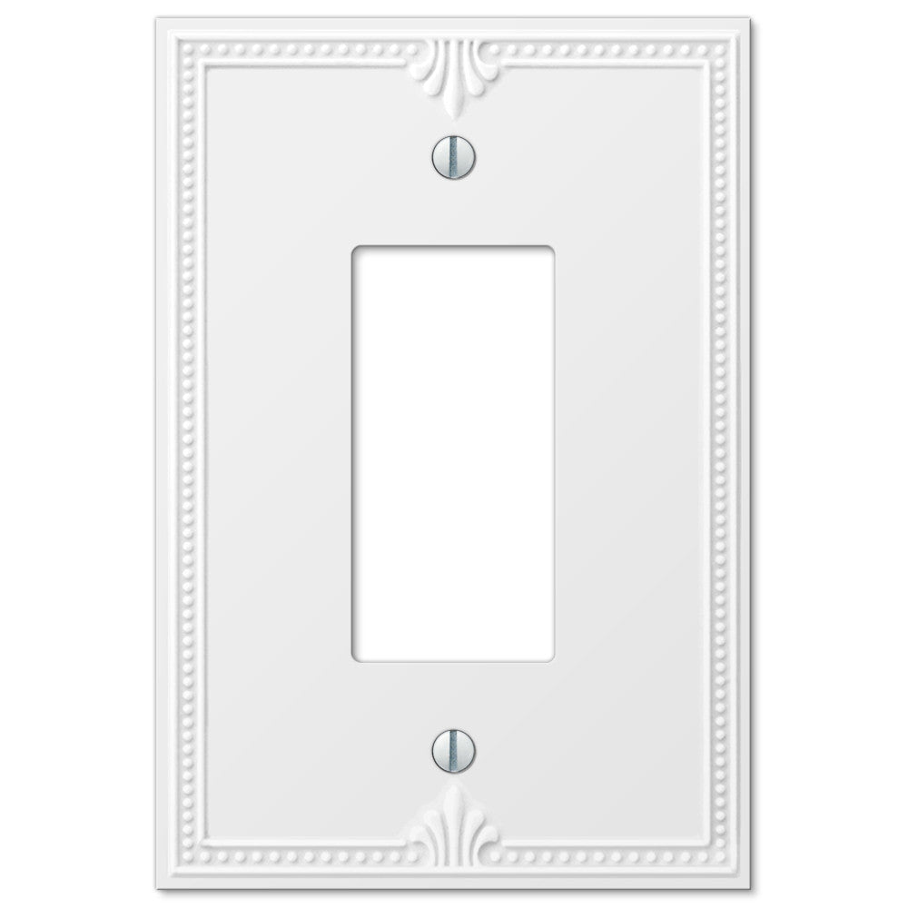 Richmond White Plastic - 1 Rocker Wallplate - Wallplate Warehouse