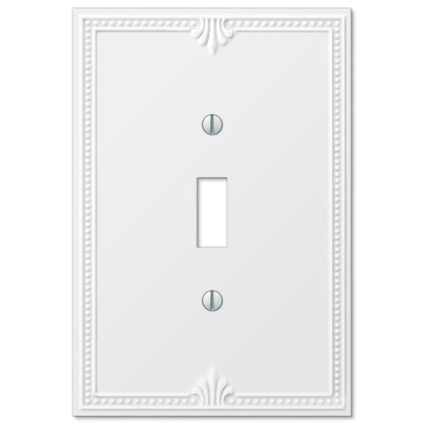 Richmond White Plastic - 1 Toggle Wallplate - Wallplate Warehouse