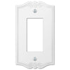 Charleston White Plastic - 1 Rocker Wallplate - Wallplate Warehouse