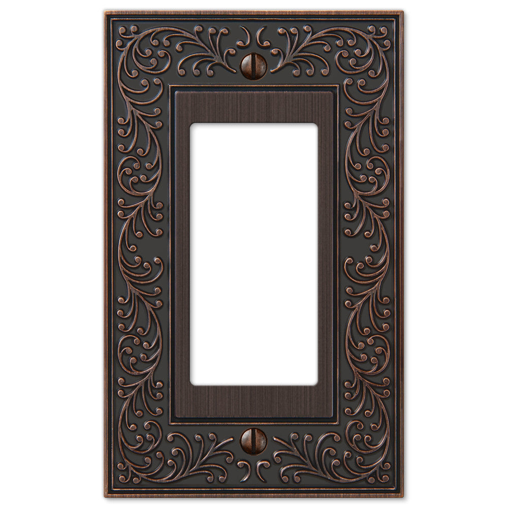 English Garden Aged Bronze Cast - 1 Rocker Wallplate - Wallplate Warehouse