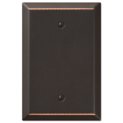 Oversized Aged Bronze Steel - 1 Blank Wallplate - Wallplate Warehouse