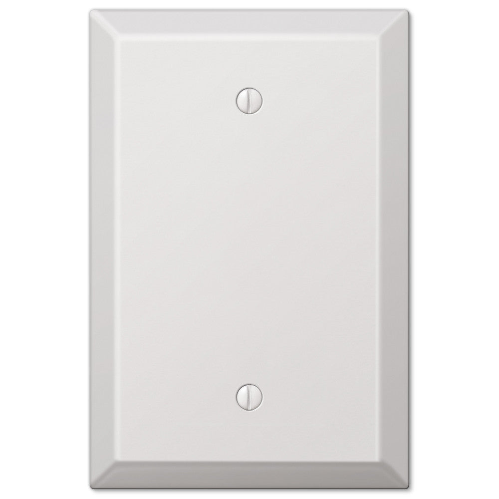 Oversized White Steel - 1 Blank Wallplate - Wallplate Warehouse