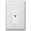 Oversized White Steel - 1 Phone Jack Wallplate - Wallplate Warehouse