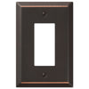 Oversized Aged Bronze Steel - 1 Rocker Wallplate - Wallplate Warehouse