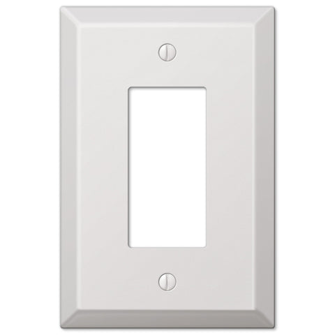 Oversized White Steel - 1 Rocker Wallplate - Wallplate Warehouse