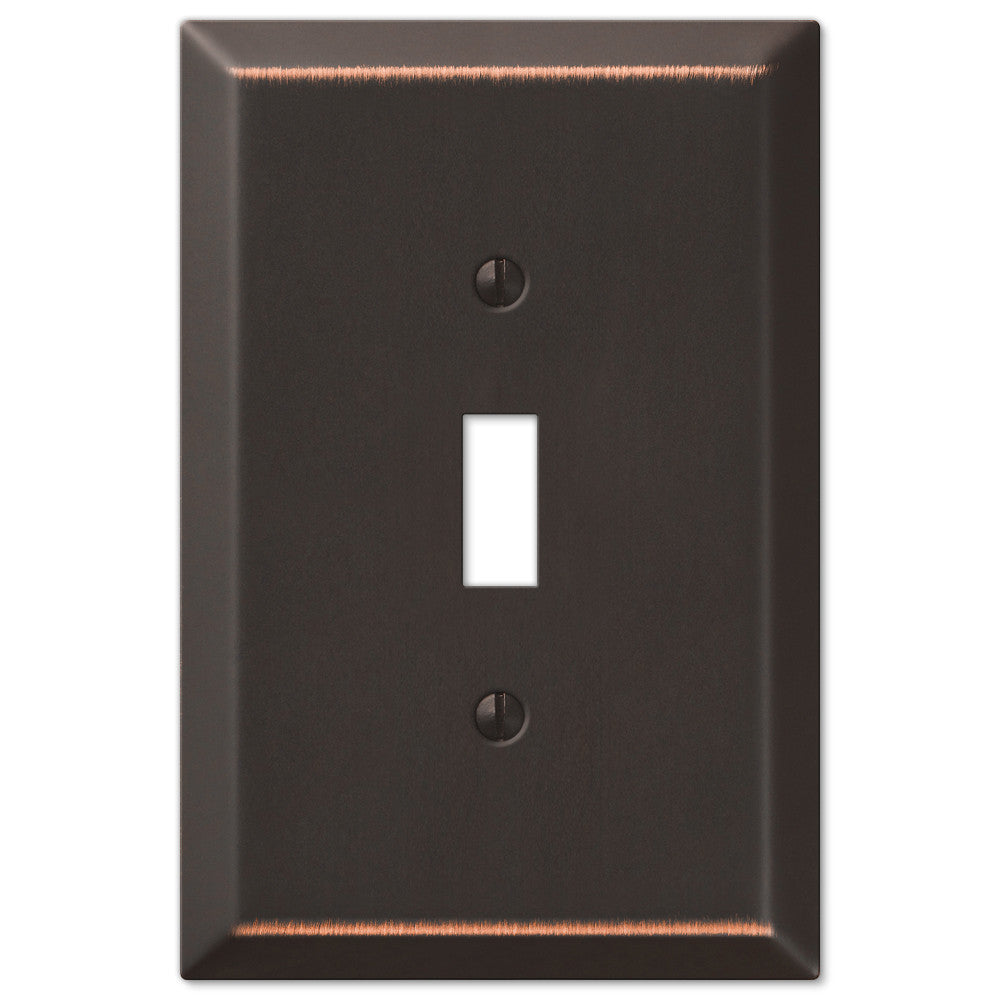 Oversized Aged Bronze Steel - 1 Toggle Wallplate - Wallplate Warehouse