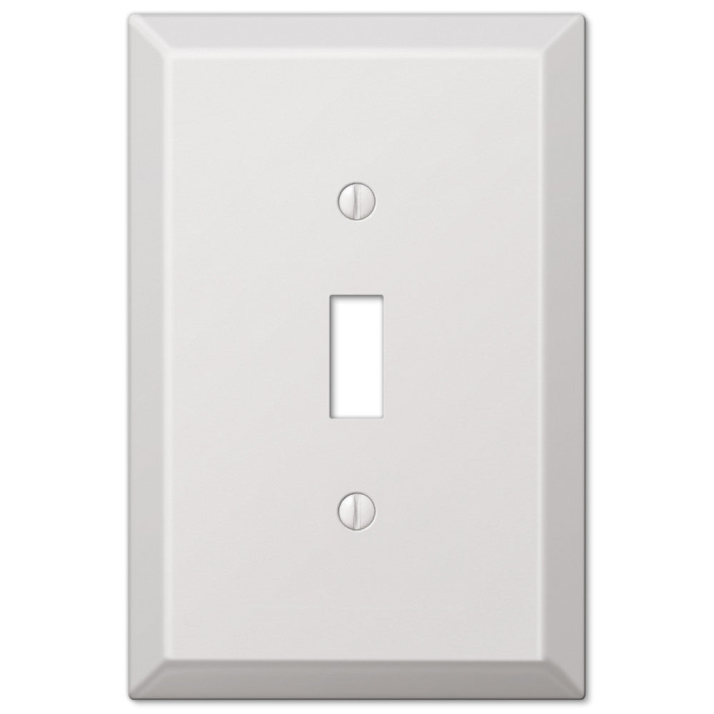 Oversized White Steel - 1 Toggle Wallplate - Wallplate Warehouse
