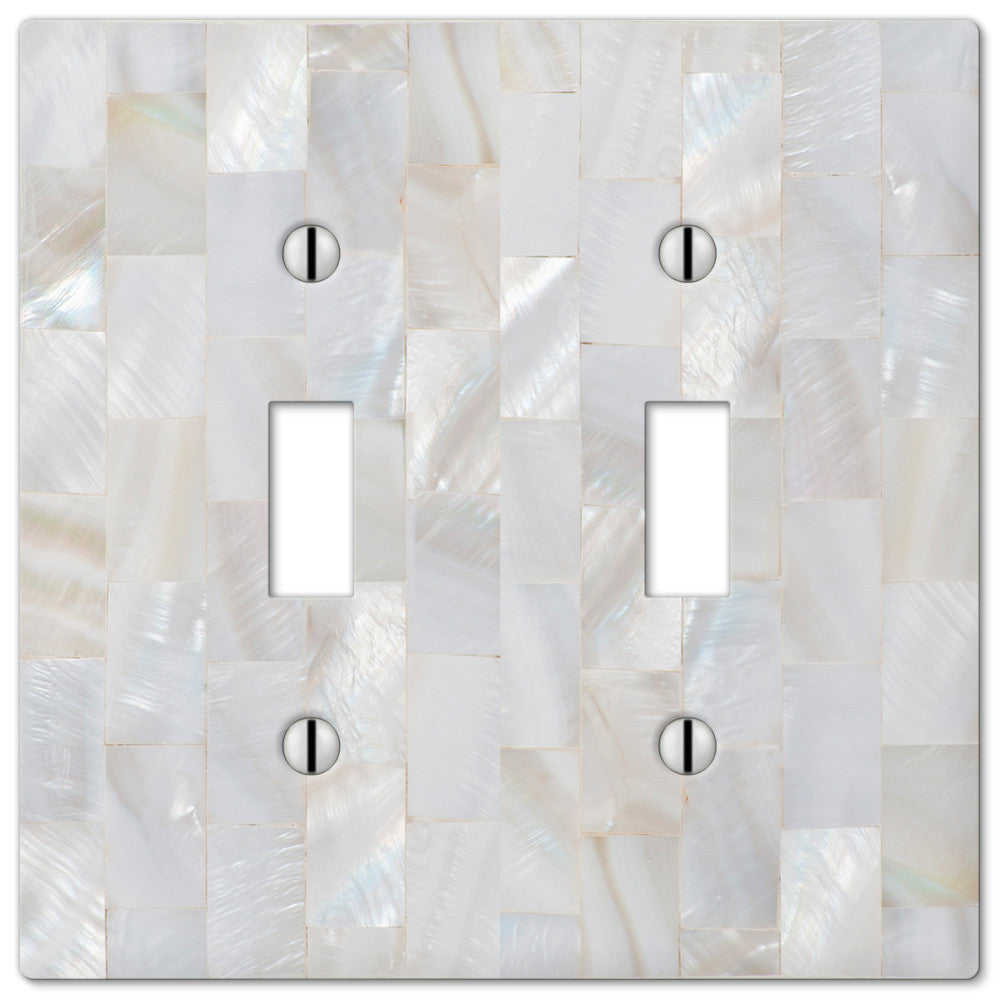 Pearl Capiz Plastic - 2 Toggle Wallplate - Wallplate Warehouse