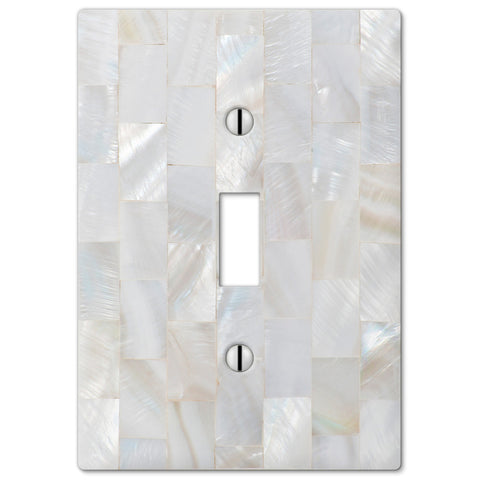 Pearl Capiz Plastic - 1 Toggle Wallplate - Wallplate Warehouse