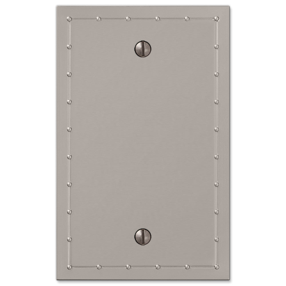 Rosa Satin Nickel Cast - 1 Blank Wallplate - Wallplate Warehouse