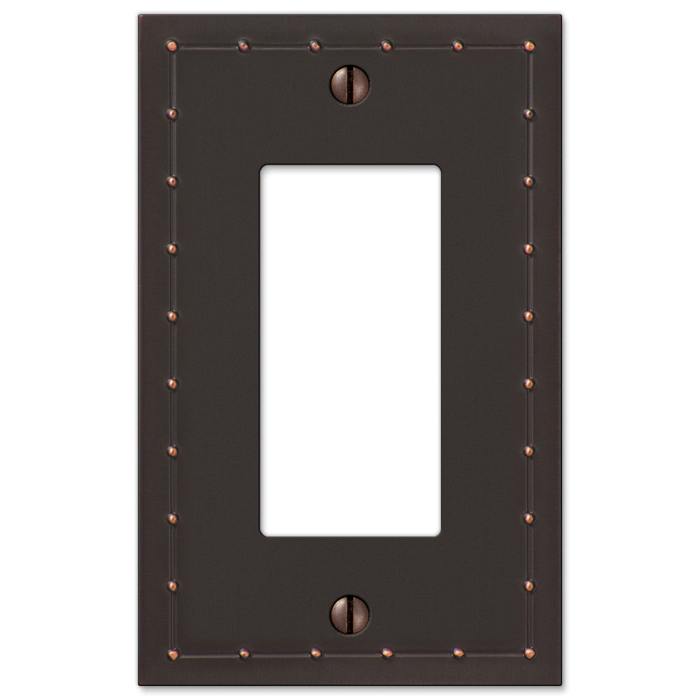 Rosa Aged Bronze Cast - 1 Rocker Wallplate - Wallplate Warehouse