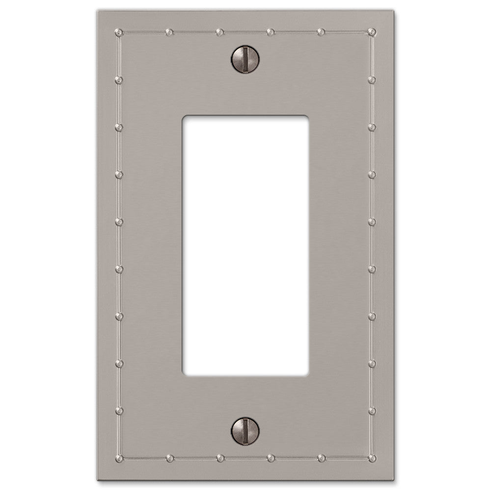Rosa Satin Nickel Cast - 1 Rocker Wallplate - Wallplate Warehouse