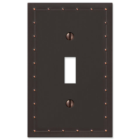 Rosa Aged Bronze Cast - 1 Toggle Wallplate - Wallplate Warehouse