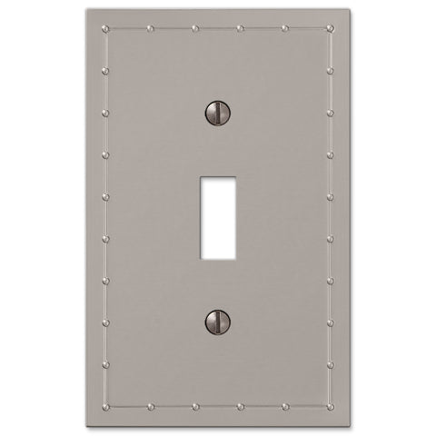 Rosa Satin Nickel Cast - 1 Toggle Wallplate - Wallplate Warehouse