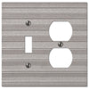 Chemal Frost Nickel Cast - 1 Toggle / 1 Duplex Outlet Wallplate - Wallplate Warehouse