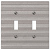 Chemal Frost Nickel Cast - 2 Toggle Wallplate - Wallplate Warehouse