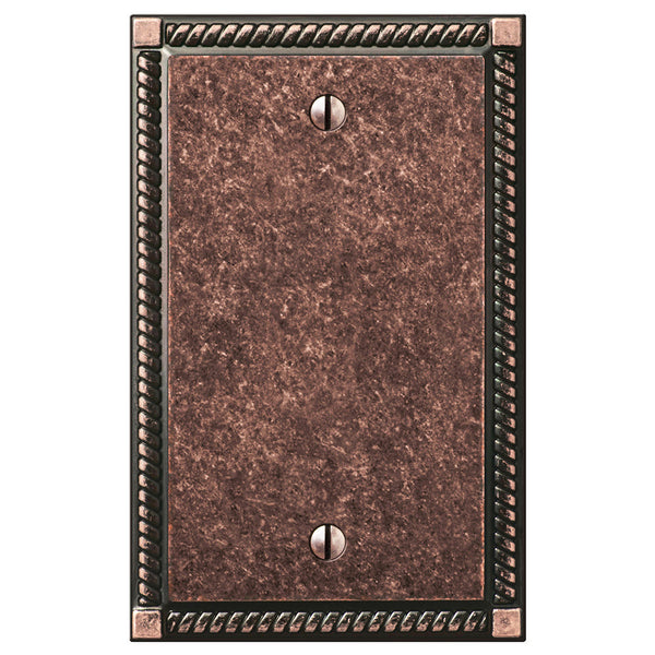 Georgian Tumbled Aged Bronze Cast - 1 Blank Wallplate
