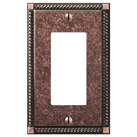 Georgian Tumbled Aged Bronze Cast - 1 Rocker Wallplate