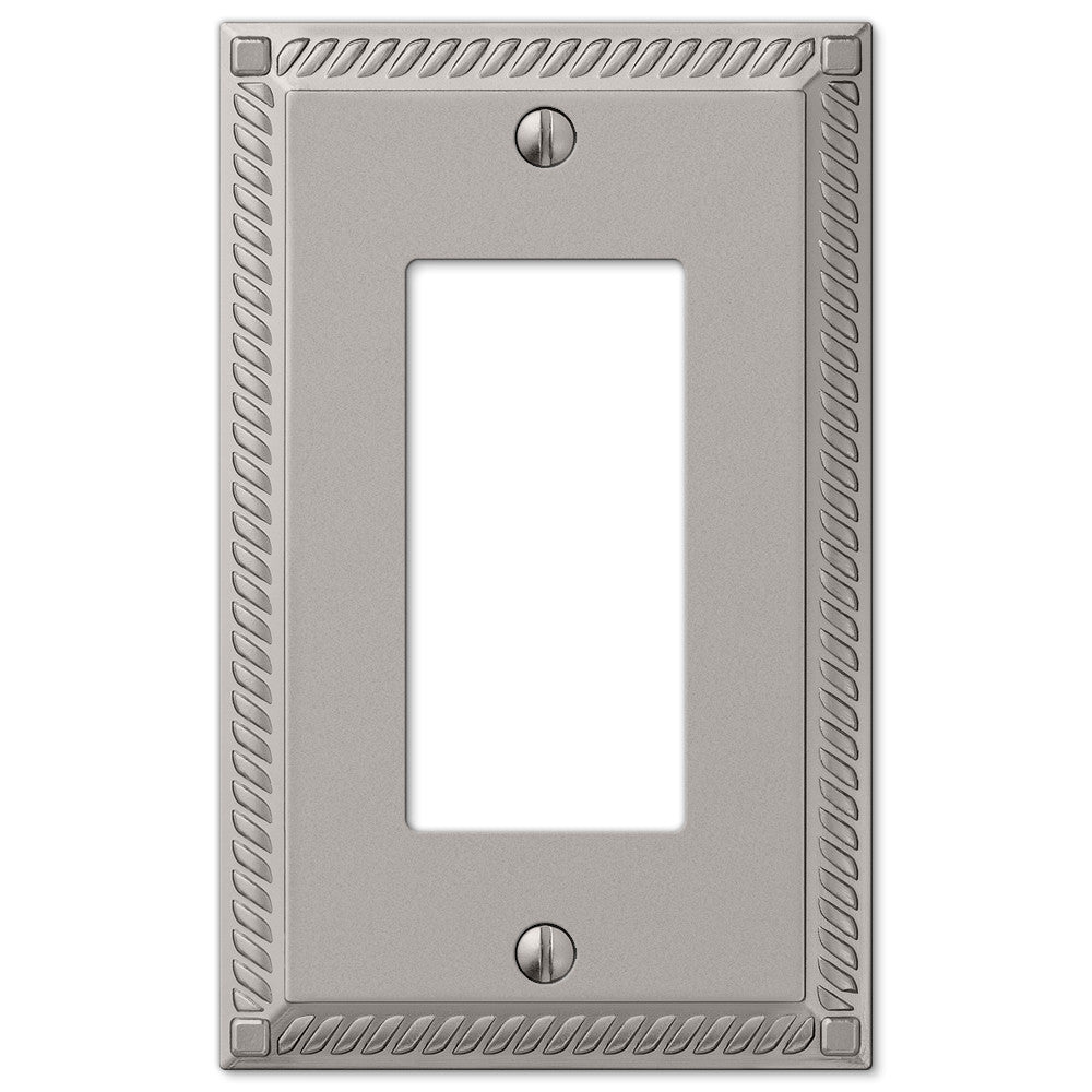 Georgian Satin Nickel Cast - 1 Rocker Wallplate - Wallplate Warehouse