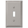 Georgian Satin Nickel Cast - 1 Toggle Wallplate - Wallplate Warehouse