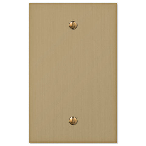 Elan Brushed Bronze Cast - 1 Blank Wallplate - Wallplate Warehouse