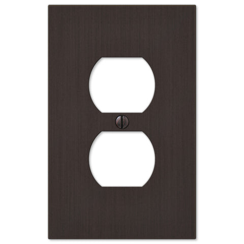 Elan Aged Bronze Cast - 1 Duplex Outlet Wallplate - Wallplate Warehouse