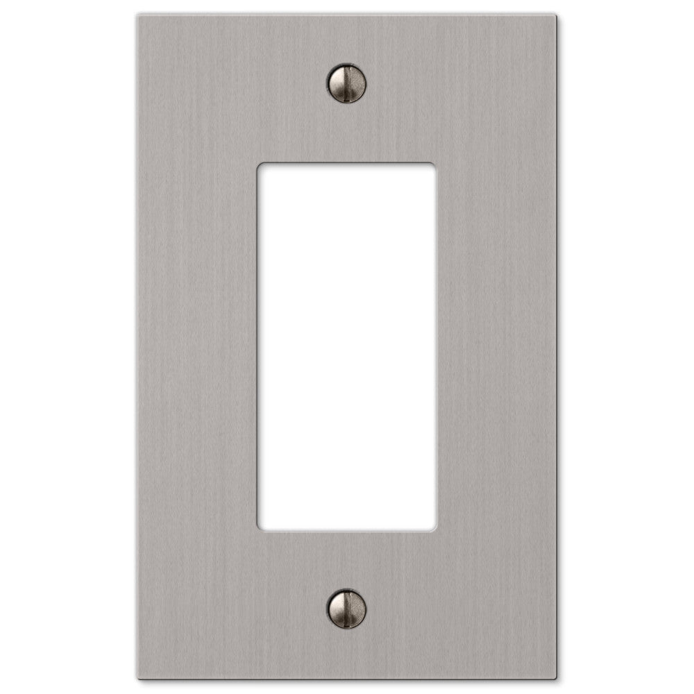 Elan Brushed Nickel Cast - 1 Rocker Wallplate - Wallplate Warehouse