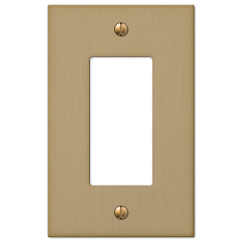 Elan Brushed Bronze Cast - 1 Rocker Wallplate - Wallplate Warehouse