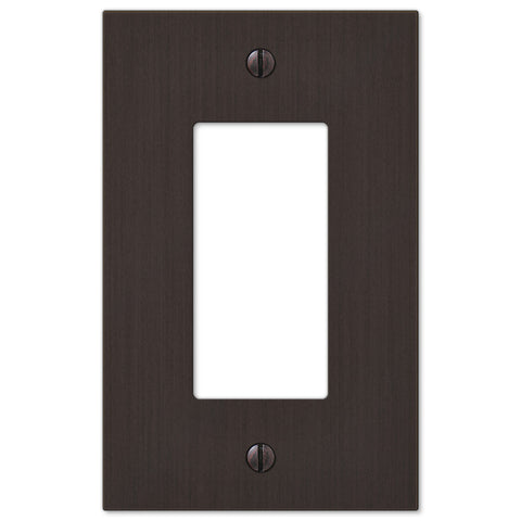 Elan Aged Bronze Cast - 1 Rocker Wallplate - Wallplate Warehouse