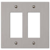 Elan Brushed Nickel Cast - 2 Rocker Wallplate - Wallplate Warehouse