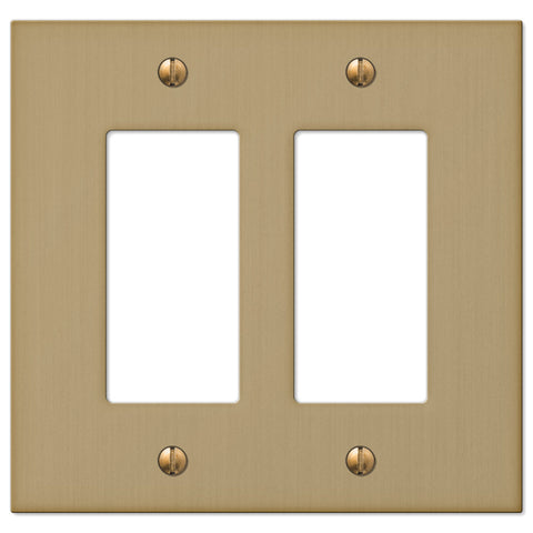 Elan Brushed Bronze Cast - 2 Rocker Wallplate - Wallplate Warehouse