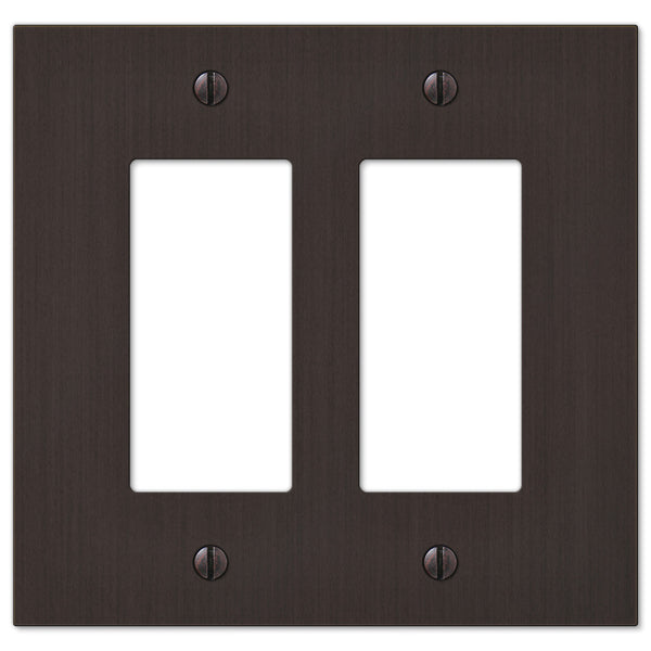 Elan Aged Bronze Cast - 2 Rocker Wallplate - Wallplate Warehouse