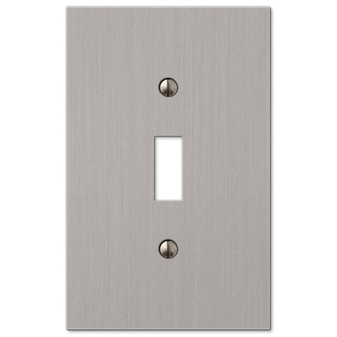Elan Brushed Nickel Cast - 1 Toggle Wallplate - Wallplate Warehouse