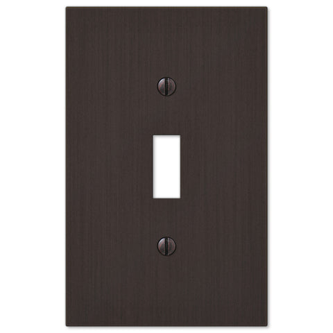 Elan Aged Bronze Cast - 1 Toggle Wallplate - Wallplate Warehouse